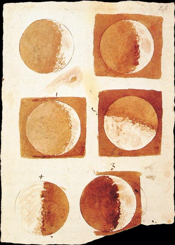Galileo's washes of the moon.